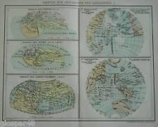 B 1874 MAPPA GEOGRAFICA:CARTA STORIA DELLA GEOGRAFIA 1