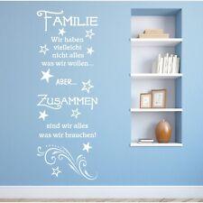 Wandtattoo Spruch  Familie haben zusammen Wandsticker Wandaufkleber Sticker 4