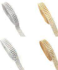 45'' Length 4 Line Strips iron On Crystal Diamante Ribbon Reel Bling Rope Dresse