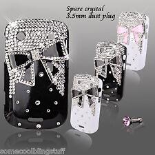 Nuevo Cool 3d Bling Negro Blanco Moño diseñador Diamante Estuche Para Blackberry 9900 Reino Unido