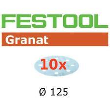 10 FESTOOL Schleifscheiben Granat STF Ø125mm 8-Loch P40-P320 *497145-497150