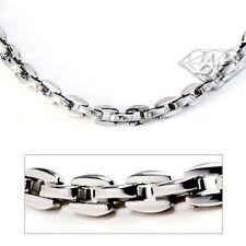 Accents Kingdom Titanium Men's 5MM Oval Link Chain Necklace