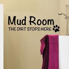Autocollant chien mud chambre saleté bloque ici art décalque toilettage animaux