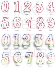 COMPLEANNO DECORAZIONI PER TORTA numero Candele Candela Party numeri GIRL BOY glitter 0-9