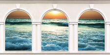Sticker trompe l'oeil 3 Arches Couché de soleil