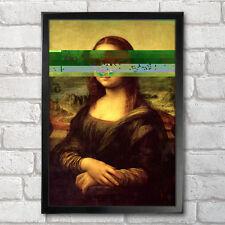 Mona Lisa cartel impresión A3 + 13 X 19 en Leonardo da Vinci Glitch Diseño