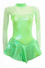 Skating dress-fluorescent GREEN ologramma / FLO MESH VERDE-Tutte le Taglie - (S106)
