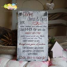 Shabby Style -Danke Oma & Opa...(WIR)- Holzschild Geschenk Deko HandsArt