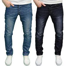 ENZO Herren Designer Reguläre Gerades Bein Jeans verfügbar in 2 Farben Bnwt