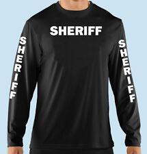 Black Long Sleeve T Shirt, Sheriff, Professional, Business,100% Cotton, Gildan