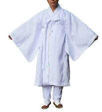 Men water silk robe, Korea traditional clothing Hanbok Dopo, Halloween costumes