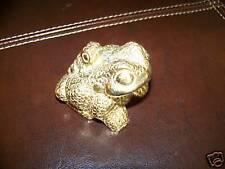 Bronze Toad Figurine, Mexico, Artisticos S.A. Bronces