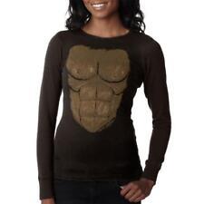 Halloween Sasquatch Bigfoot Costume Juniors Long Sleeve Thermal