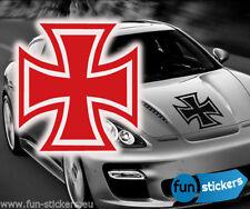 IRON CROSS Old School ADESIVI TUNING Fun Sticker Croce Di Ferro libera scelta del colore