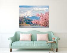 3D Mount Fuji 8 Wall Stickers Vinyl Murals Wall Print Deco Art AJ STORE AU Lemon