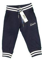 Pantalone tuta da bambina blu Datch pinocchietto elastico casual molla moda 3/4