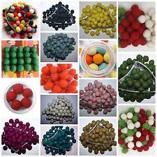 100% Woollen Nursery Felt Balls Multi bright Color Pom Pom felt balls DIY 2cm