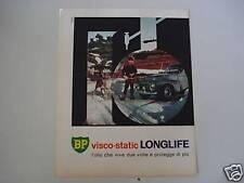 advertising Pubblicità 1963 OLIO BP VISCO-STATIC