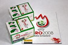 Panini EM Euro 2008 – 2 x Display Box GRÜN GREEN sealed/OVP RARE SHINY + ALBUM