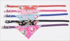 Bandana Collar with Owls - XS dog, puppy, cat - CUTE - pink, purple, blue, black