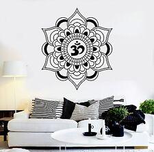 Vinyl Wall Decal Mandala Lotus Talisman Buddhism Hinduism Stickers (ig4051)