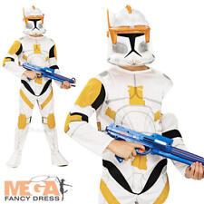 Commander Cody Star Wars Boys Fancy Dress Costume Child Kids Outfit + Mask 3-10