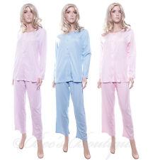Ladies Waites Pyjamas Blue/  Pink/ Purple Cotton Pajamas Size M L XL Style 4306