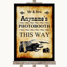 Western Photobooth de esta manera derecho Personalizado De Boda Letrero