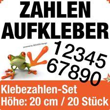 Klebezahlen / 20 Stk. Höhe 20 cm