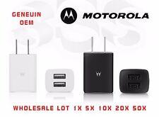 Lot Wholesale OEM Motorola Universal Dual USB 2Port Wall Travel Charger SPN5791A
