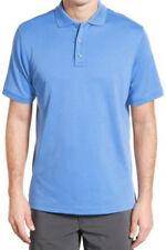 NWT Nordstrom New Men Blue Lapis Regular Fit Interlock Knit Polo Size Small