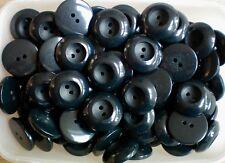 10pc 12 mm Grigio Scuro Perla estremamente Tuta Camicia Cardigan Maglieria 4 pulsante FORO 0094