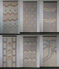 Perlholz Türvorhang Dekorationsvorhang Raumteiler Vorhang 90x200 mit Holzleiste