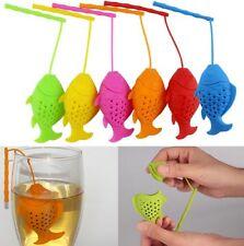 Pez de silicona Infusor de Té Forma Hojas Sueltas Infusor De Té/Filtro de Té/más escarpada de té