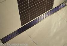 QuARTz by Aco Linear Shower Drain Metal Covers Geometric linear