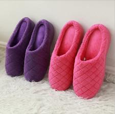 Women's Soft House Slippers Memory Foam Coral Fleece House Clog Indoor Outdoor