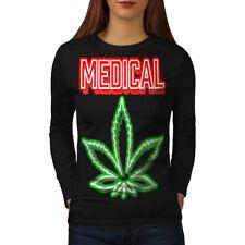 Medical Marijuana Rasta Women Long Sleeve T-shirt NEW | Wellcoda