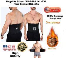 Men Plus Sizes Fat burner  Waist Belt Sweat Trainer Trimmer Belt Body Shaper USA