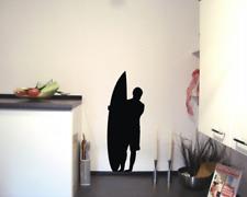 Wandtattoo Surfer stehend Wandaufkleber 25 Farben 6 Größen Wandsticker Sticker