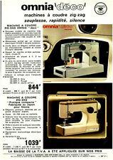 Publicité ancienne machine à coudre omnia rapidité 1973 issue de magazine