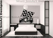 F1 Racing Car Racer Vinilo Etiquetas De Pared Niños dormitorio niñas habitación Hogar calcomanía
