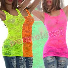 Top miniabito donna vestitino pizzo floreale abito canottiera vestito AS-5110