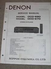 Denon Service/Operation Manual~DCD-680/670 CD Player