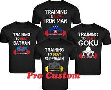 Train Insaiyan Gym T-Shirt Training to Beat Goku or Krillin DBZ Dragon Tee S-4XL