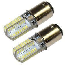 2-Pack BA15d LED Light Bulb Cool White for Singer 5017-9900 Model Sewing Machine