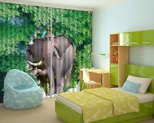3D Mignon Éléphant 45 Blockout Photo Rideau Imprimé rideaux rideaux tissu fenêtre UK