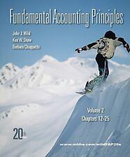 < Fundamental Accounting Principles Vol 2 Chapters 12-25 Wild John Wild Ken Shaw