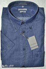 Shirt Jeans Mens Sizes M,L,XL,XXL 3XL Light Canvas Dark Blue short Sleeve
