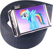 Rainbow Dash My Little Pony Belt Buckle Bottle Opener Adjustable Web Belt