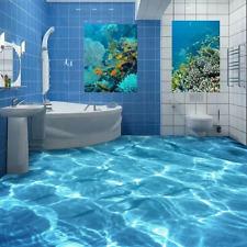 3D oceano blu terra Pavimento Foto Wallpaper Murales Muro Stampa Decalcomania
